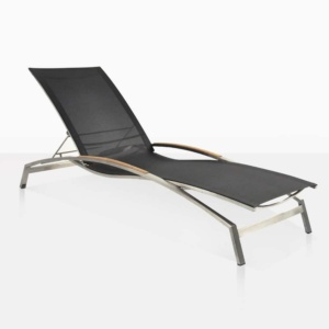 summer sun lounger teak and mesh outdoor