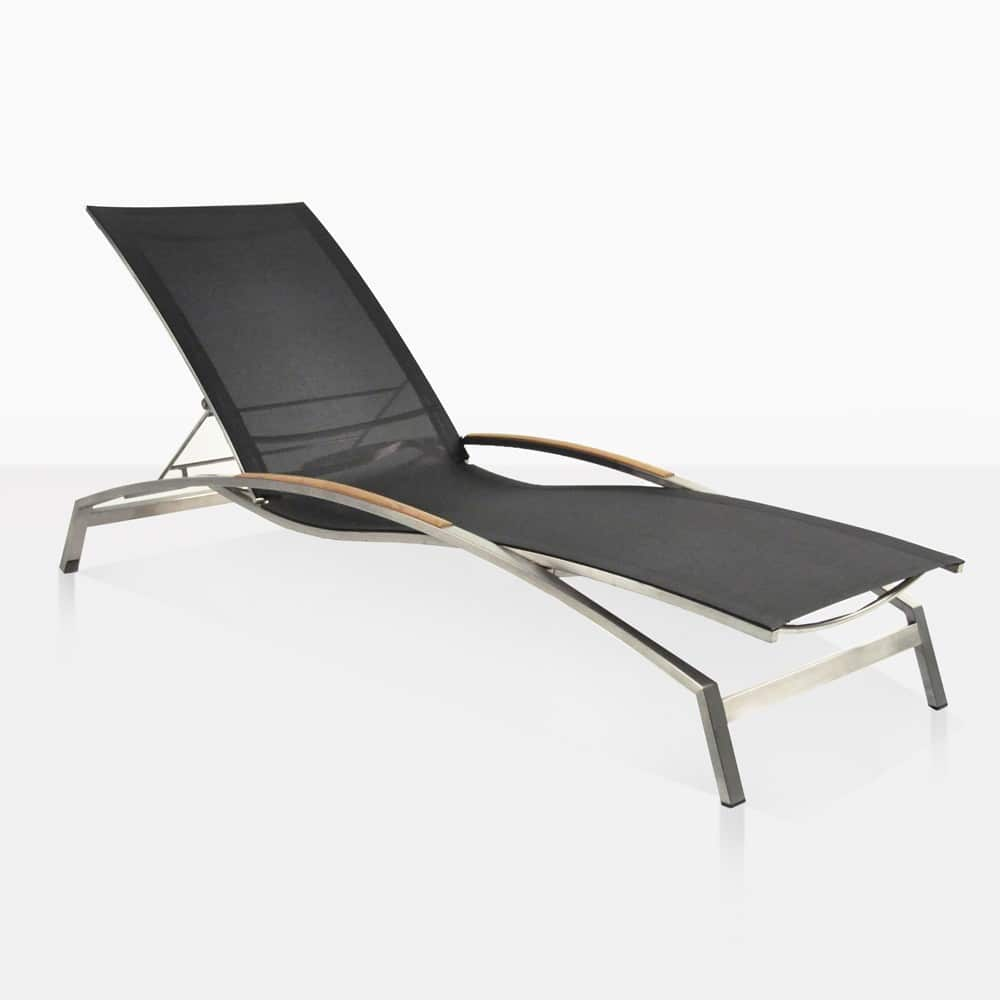Summer Stainless Steel Amp Batyline Sun Lounger Black
