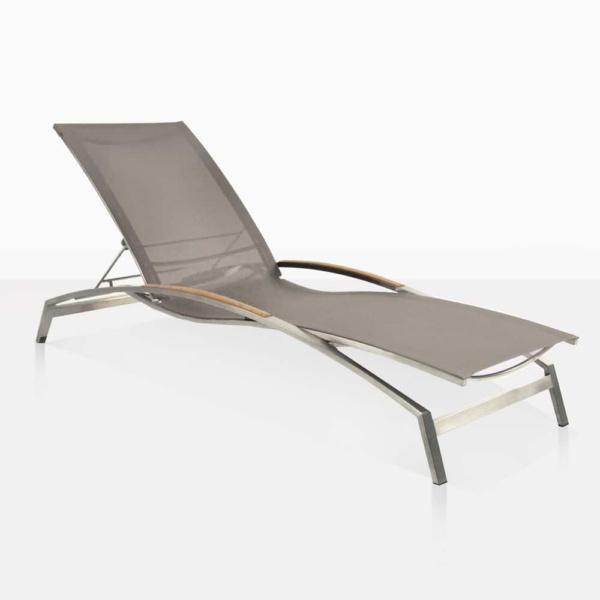 summer outdoor sun lounger taupe