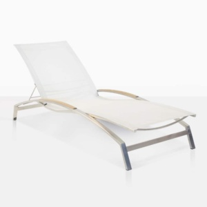 summer stainless steel and batyline sun lounger white