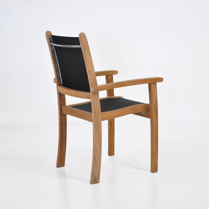 Tango Teak Chair (Black)-537