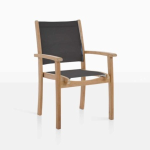 tango black chair stacking mesh