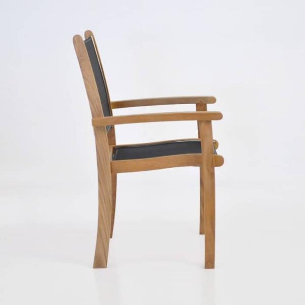 Tango Teak Chair (Black)-538