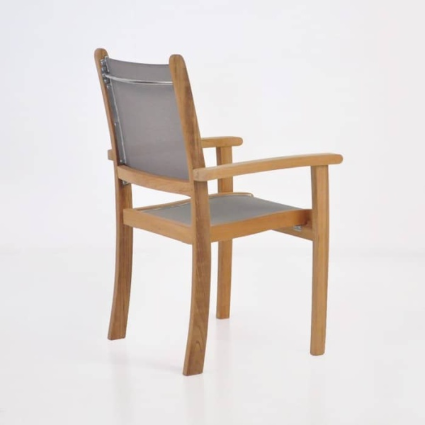 Tango Teak Chair (Taupe)-542