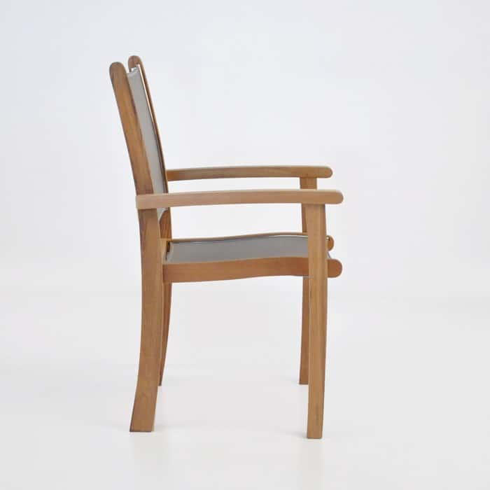 Tango Teak Chair (Taupe)-543