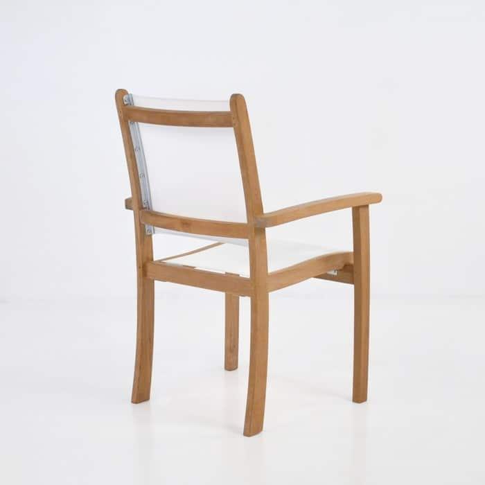 Tango Teak Chair (White)-549