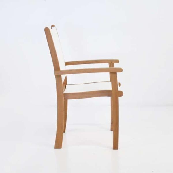Tango Teak Chair (White)-548
