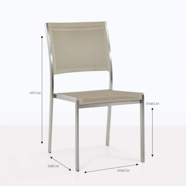taupe mesh batyline taupe stacking chair