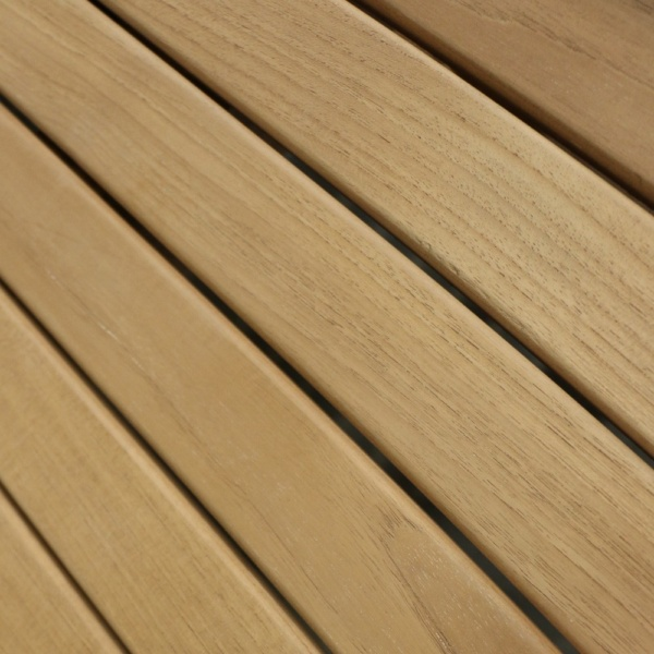 teak table close up