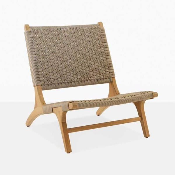 Tokio teak relaxing chair angle
