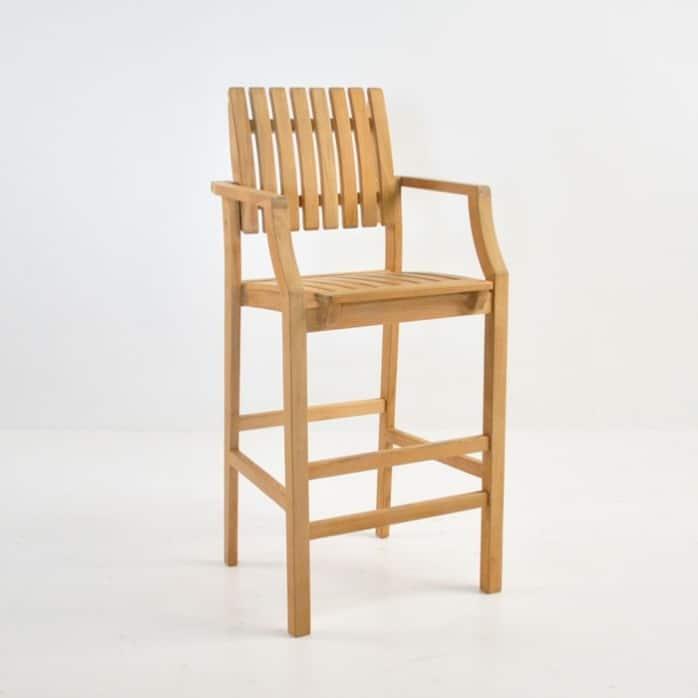 Toscana Teak Arm Bar Stool Outdoor Dining Furniture  : toscana bar stool 698x698 from designwarehouse.co.nz size 698 x 698 jpeg 41kB