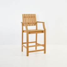 Toscana Teak Arm Counter Stool-0