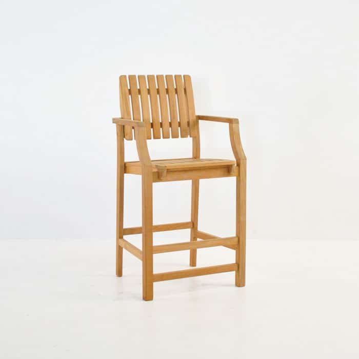 Toscana Teak Arm Counter Stool Patio Bar Furniture  : toscana counter stool from designwarehouse.co.nz size 700 x 700 jpeg 34kB