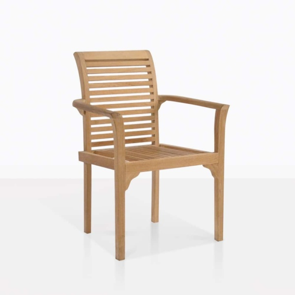 Treviso Teak Stacking Dining Chair