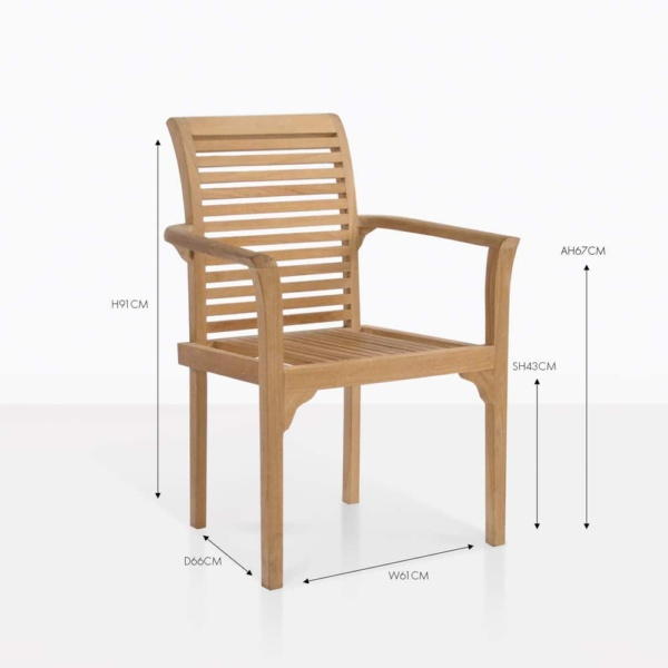 treviso teak wood dining chair