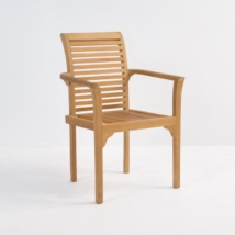 Treviso Stacking Teak Dining Chair-0