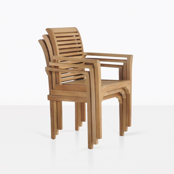 treviso stacking teak dining chair classic modern