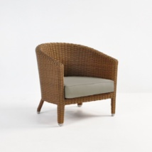 vena outdoor wicker tub chair front angle view
