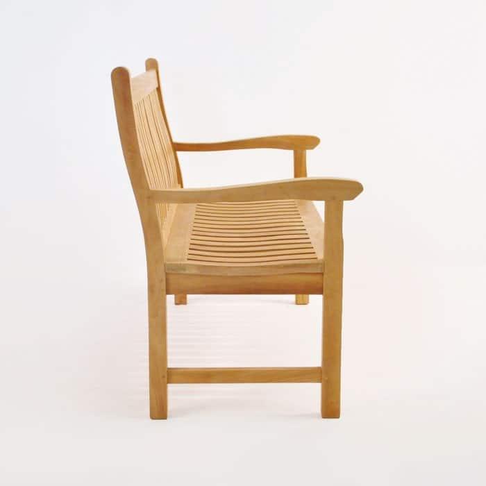 Wave Teak Outdoor Bench (2.5 Seat)-1472