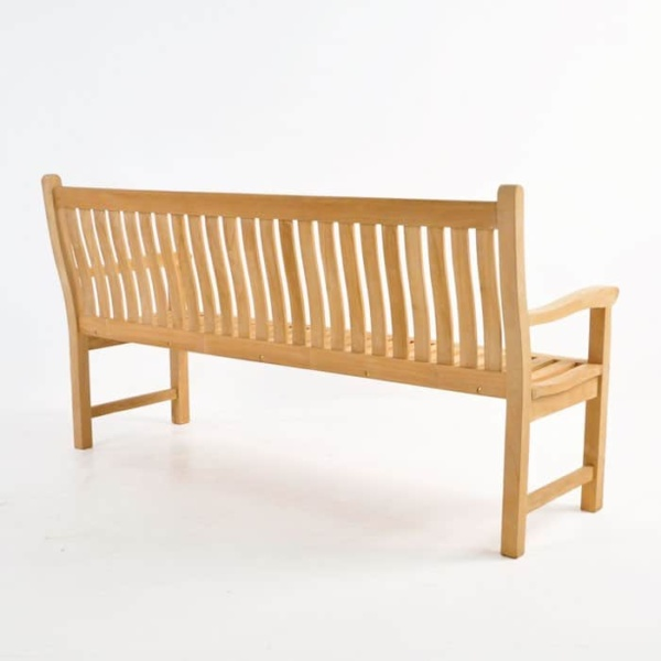 Wave Teak Outdoor Bench (3 Seat)-1475