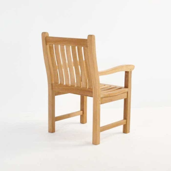 Wave Teak Dining Arm Chair-569