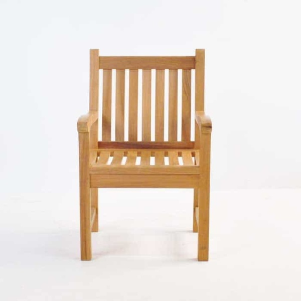 Wave Teak Dining Arm Chair-567
