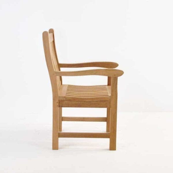 Wave Teak Dining Arm Chair-568