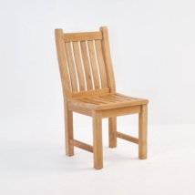 Wave Teak Dining Side Chair-0