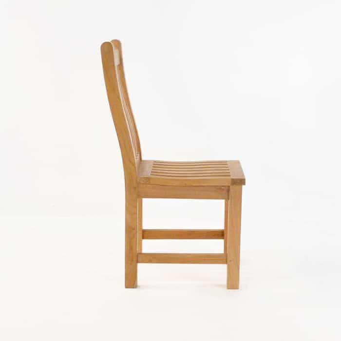 Wave Teak Dining Side Chair-573