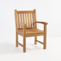 Wave Teak Dining Arm Chair-0