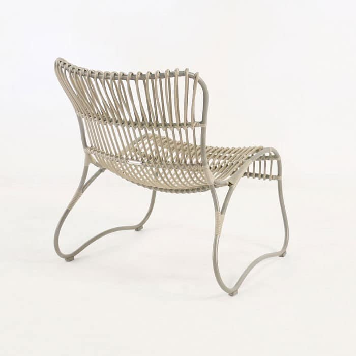 Weave Wicker and Aluminum Relaxing Chair back view