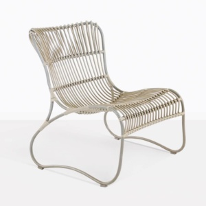 weave wicker and aluminum relaxing chair angle