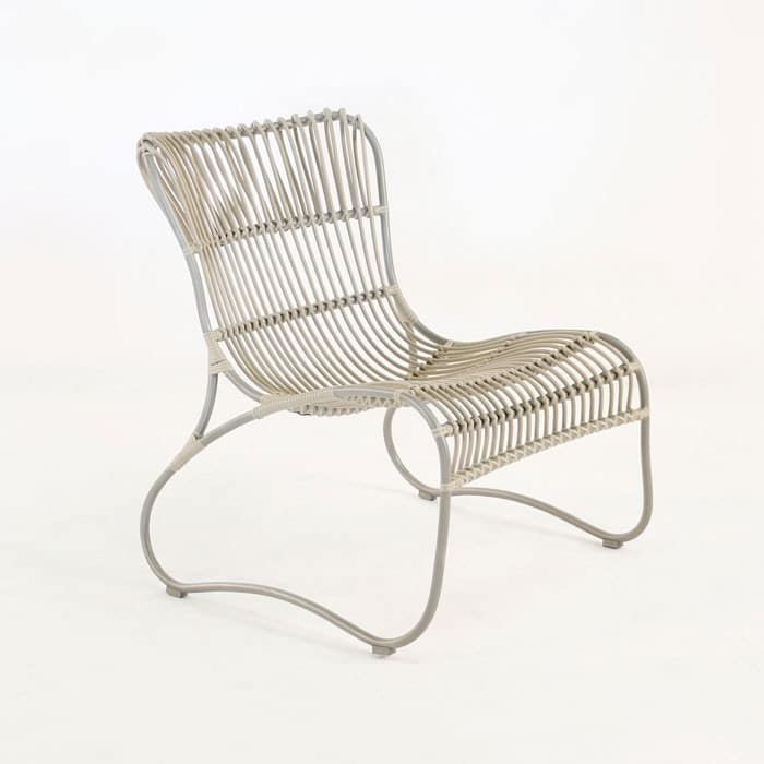 Weave Wicker and Aluminum Relaxing Chair angle view