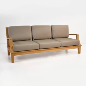 westminster teak sofa with sunbrella cushions