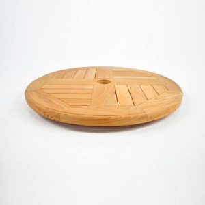 Teak Windmill Lazy Susan wood