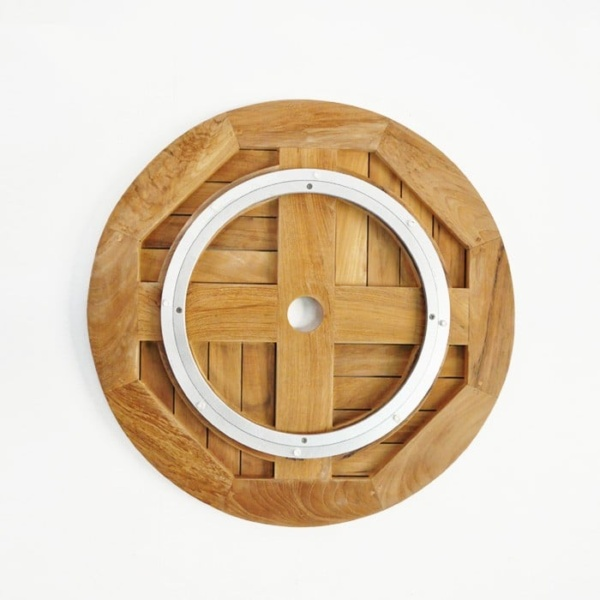 Teak Windmill Lazy Susan-897