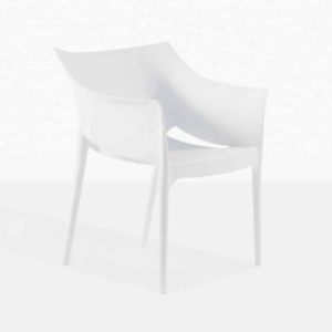 wing chair outdoor white