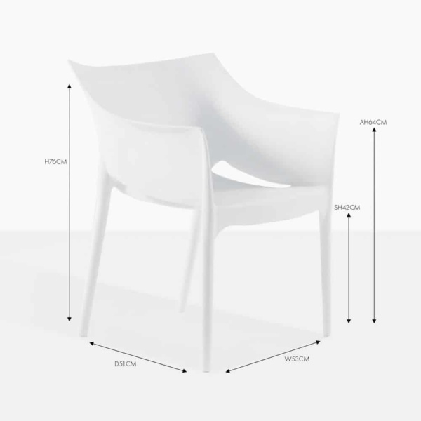 wing white dining chair
