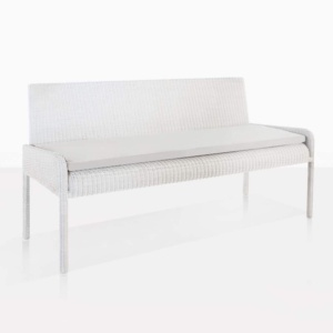 Zambezi wicker outdoor bench angle