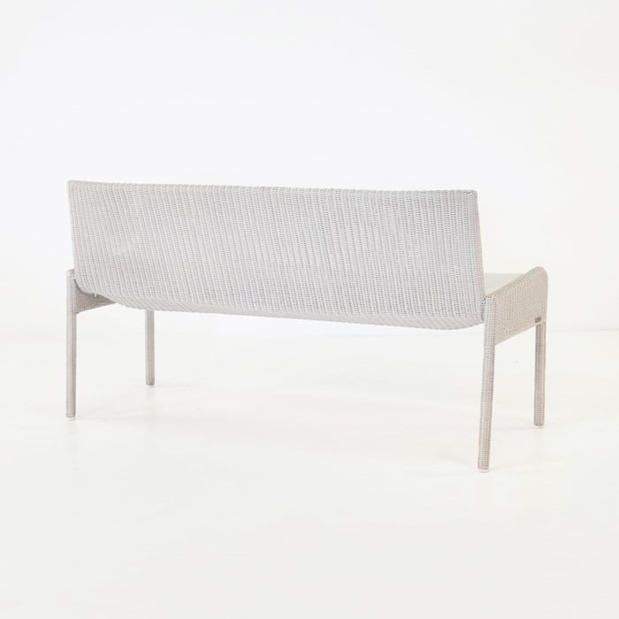 Zambezi Outdoor Wicker Bench (Chalk)-761