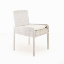 Zambezi Wicker Dining Arm Chair (Chalk)-0