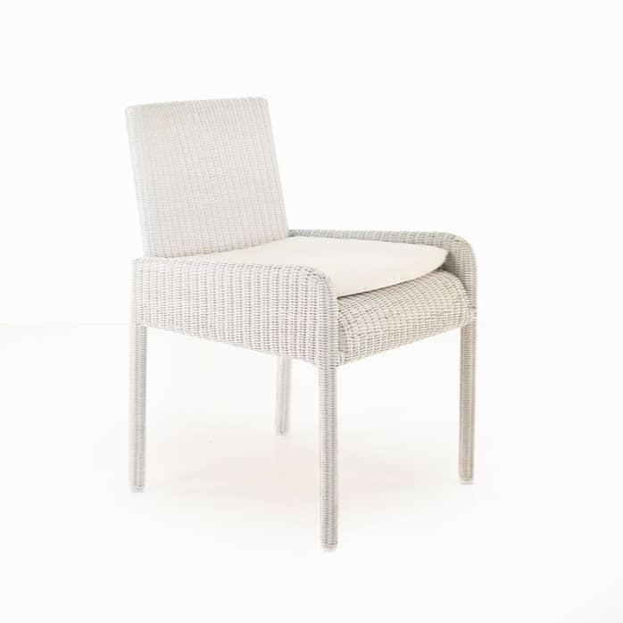Zambezi Wicker Dining Arm Chair (Chalk)-0