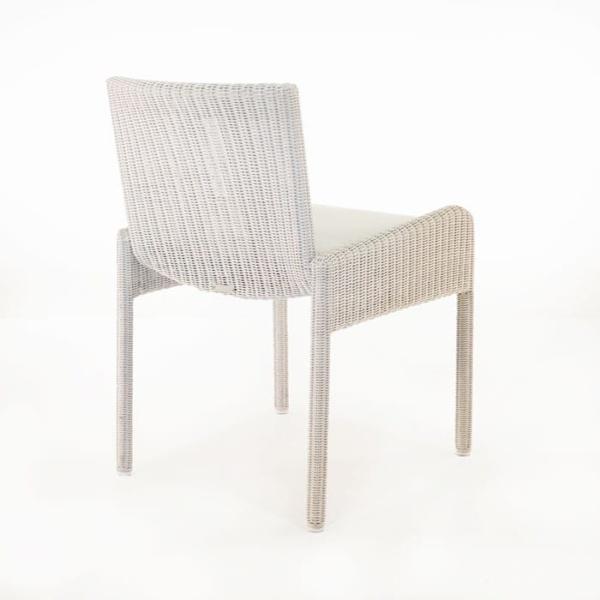 Zambezi Wicker Dining Arm Chair (Chalk)-580