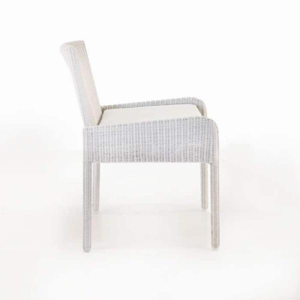 Zambezi Wicker Dining Arm Chair (Chalk)-578