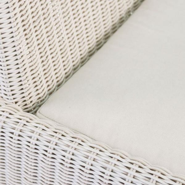 Zambezi Wicker Dining Arm Chair (Chalk)-581
