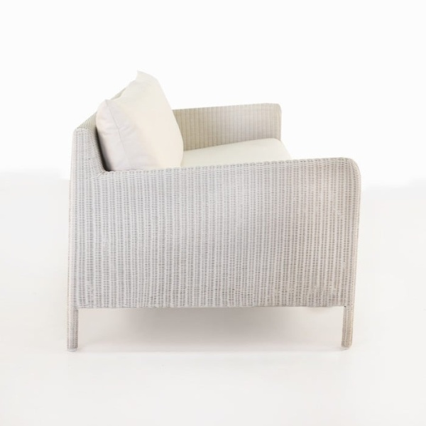 Zambezi Outdoor Wicker Sofa (Chalk)-757