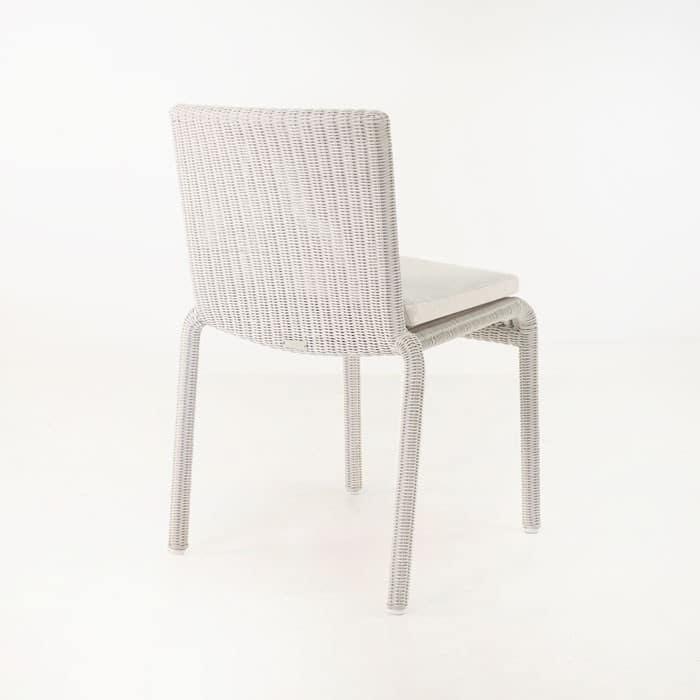 Zambezi Wicker Stacking Dining Chair (Chalk)-591