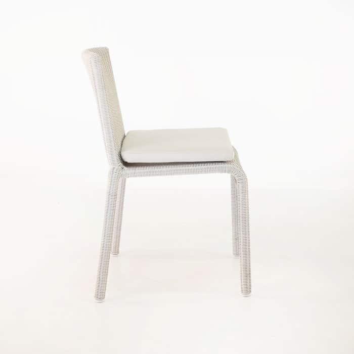 Zambezi Wicker Stacking Dining Chair (Chalk)-592