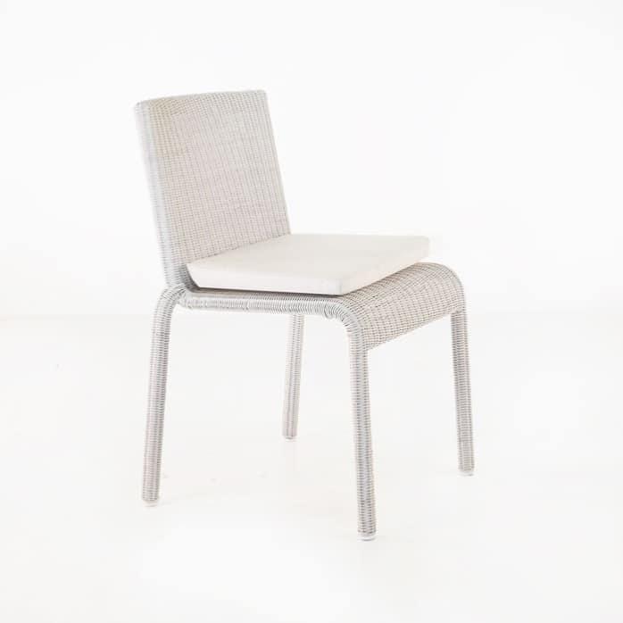 Zambezi Wicker Stacking Dining Chair (Chalk)-0