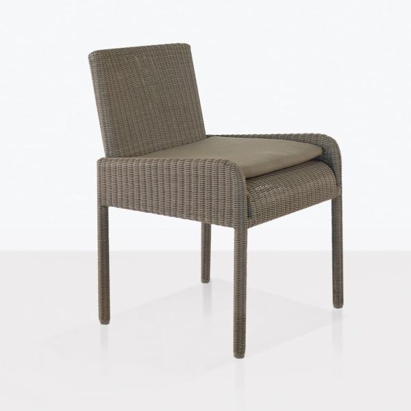 zambezi dining arm chair wicker angle